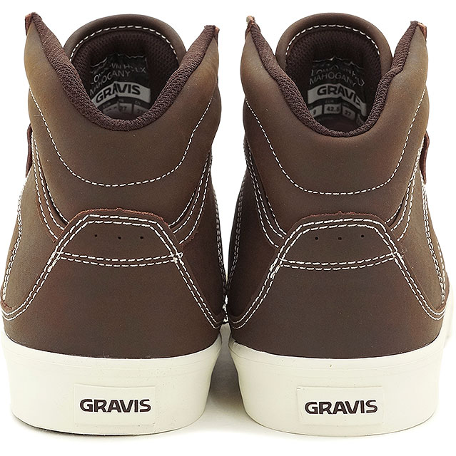 GRAVIS Gravis sneakers men's LOWDOWN HC LX MNS lowdown high cut LX MAHOGANY (13505101229 FW15)