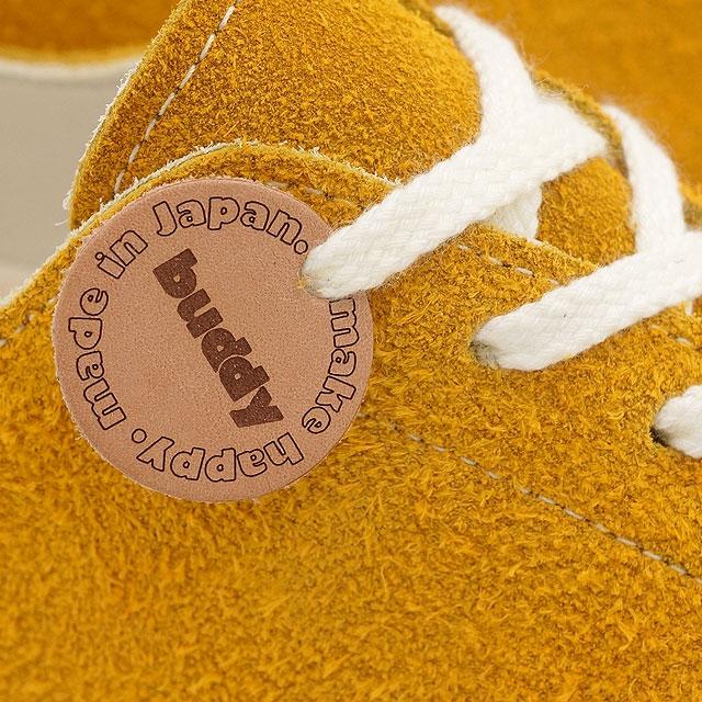 在日本取得在日本鞋进行了好友好友麂皮绒运动鞋低斗牛梗斗牛梗行芥末 (巴迪-007) / 好友让快乐好友让快乐