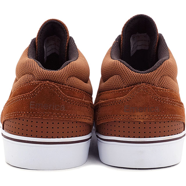 EMERICA emerica skate shoes MID VULC WESTGATE Wastegate mid varca BROWN/WHITE (FW15)