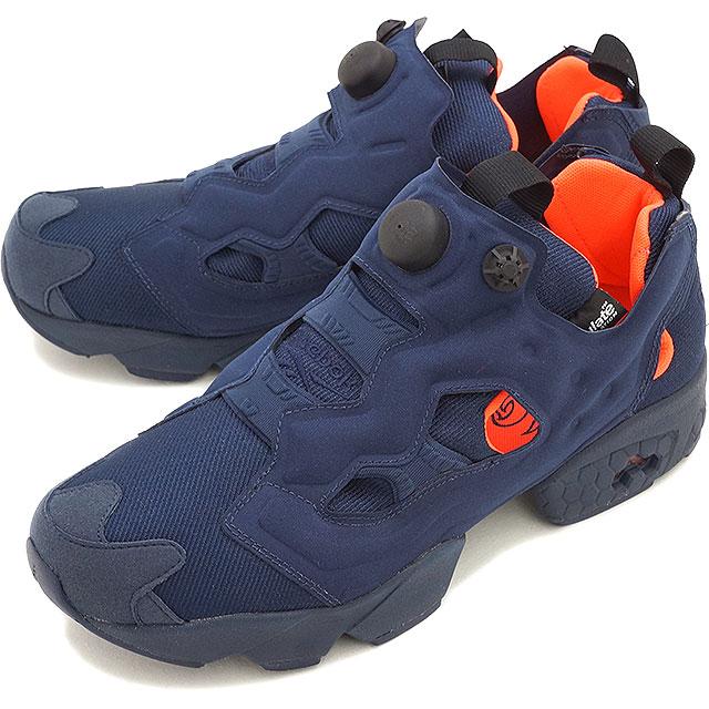 Reebok Reebok sneakers INSTA PUMP FURY TECH インスタポンプフューリーテック COLLEGE NAVY SOLAR  ORANGE WHITE (V63499 FW15) 1daa395c4e