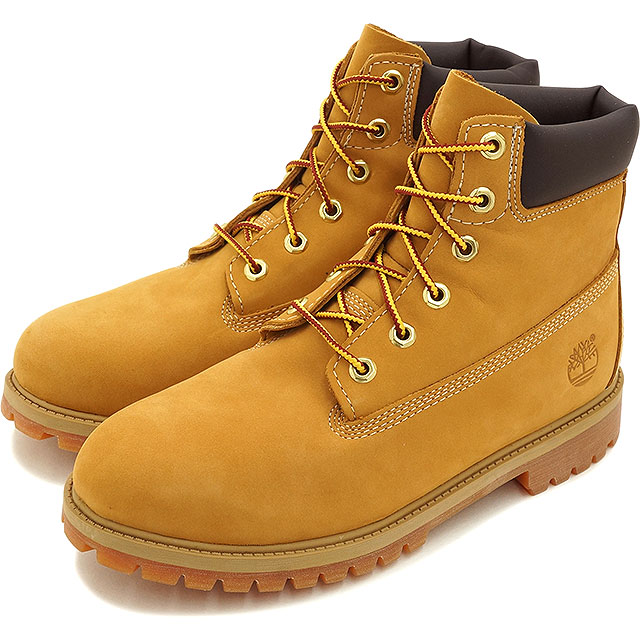 94c395d6dba5 Timberland Timberland boots Lady s-adaptive youth standard 6 inch Premium  Waterproof Boot 6 inches premium waterproof boots Wheat Nubuck shoes (12909)