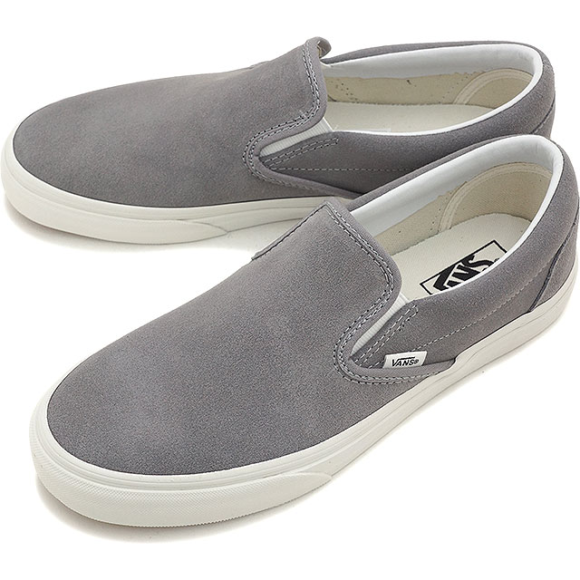 0b351ab112ea1e VANS vans sneakers men gap Dis slip-ons CLASSICS CLASSIC SLIP-ON classical  music classical music slip-on (VINTAGE) FROST GRAY BLANC (VN-018DGXU FW15)