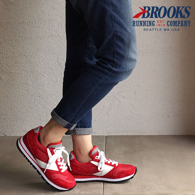 458993b4210b0 BROOKS Brooks sneakers shoes CHARIOT WMN HERITAGE chariot heritage Lady s  True Red (1201711B-691)
