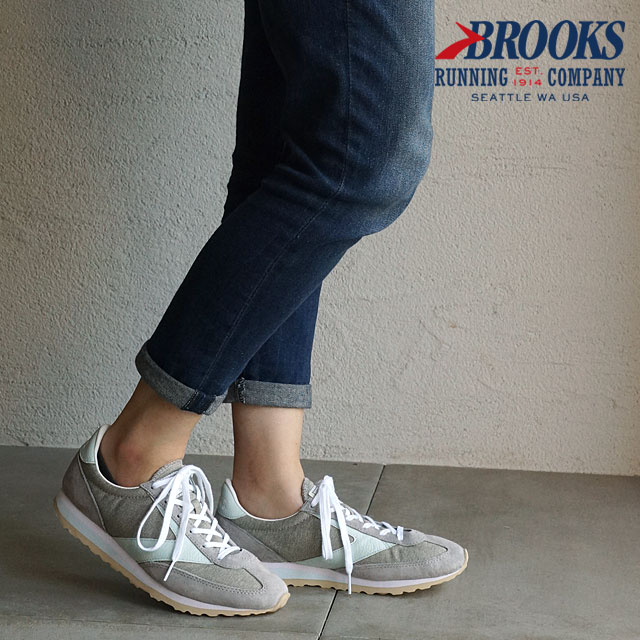 BROOKS Brooks sneakers WMN HERITAGE Vanguard Vanguard heritage ladies Grey (1201591B-043 FW15)