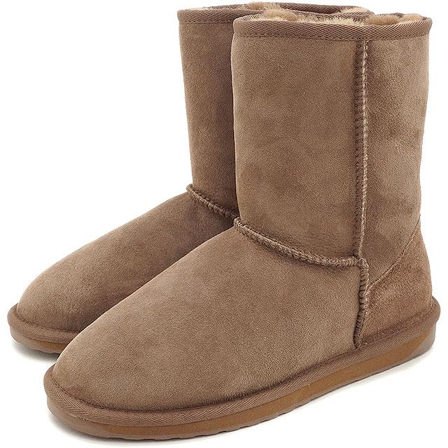 emu エミュー シープスキン ブーツ STINGER LO スティンガー ロー MUSHROOM靴 (W10002 FW15)/エミューブーツ 正規品 エミュ【EUロゴ】【コンビニ受取対応商品】