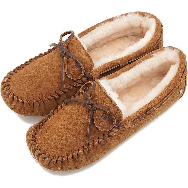 emu エミュー スエードモカシン AMITY アミティー CHESTNUT靴 (W10555 FW15)/エミュ 正規品【EUロゴ】【コンビニ受取対応商品】