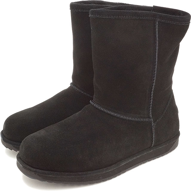 8bbaaa90355 emu emu mouton boots PATERSON LO Patterson low (waterproof suede cloth /  sheepskin) BLACK ...