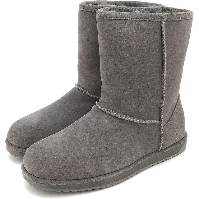 7013874b547 EMU EMU Sheepskin boots LO PATERSON Paterson low waterproof Swede /  Sheepskin mid cut boot CHARCOAL ...