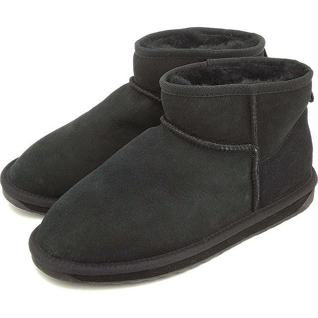 emu エミュー ムートンブーツ STINGER MICRO スティンガー マイクロ 靴 (耐水シープスキン) BLACK 靴 (W10937 FW15) エミュ ブーツ BOOTS【EUロゴ】【コンビニ受取対応商品】
