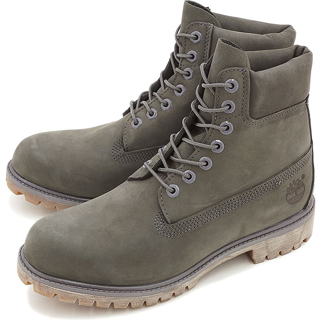 91af60d968f1 Timberland Timberland men boots 6 inch Premium Boot 6 inches premium boots  Grey Nubuck Monochromatic shoes (A114K FW15)