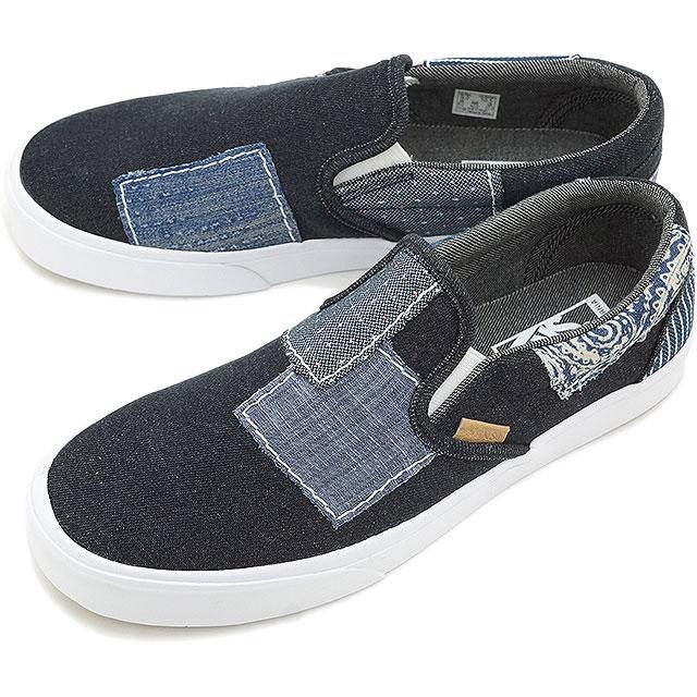20546e76b7 VANS vans slip-ons sneakers men gap Dis CALIFORNIA CLASSIC SLIP-ON CA  classical music slip-on (DENIM BORO) BLUE TRUEWHITE (VN-03CVHSM FW15)