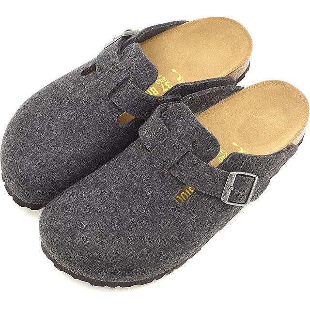BIRKENSTOCK ビルケンシュトック レディース メンズ クロッグサンダル 靴 BOSTON ボストン ウール WL Anthrasit [160373/160371 FW15]【幅狭】【幅広】[e]