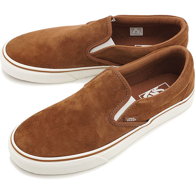 8d7f2568aca VANS vans sneakers mens Womens CLASSICS CLASSIC SLIP-ON classic slip-on  (PIG SUEDE) MONK s ROBE BLANC (VN-03DVHVW FW15)
