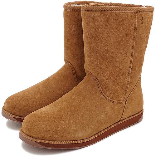 【完売】【在庫限り】emu エミュー ムートンブーツ SPINDLE LO スピンドル ロー 靴 (スウェード/メリノウール) CHESTNUT 靴 (W11018)【USロゴ】【s】:mischief