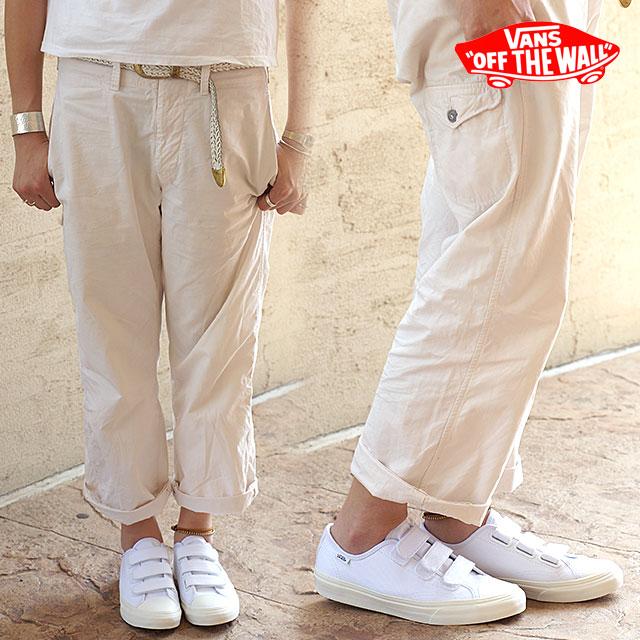 卡车监狱发行物VANS人分歧D运动鞋CLASSIC PRISON ISSUE(TWILL)TRUE WHITE/BLANC DE BLANC(VN000SDJJTP FW16)
