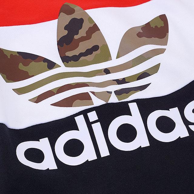 阿迪达斯原件服装鸭块巡航湿的衬衫阿迪达斯原件迷彩块船员运动衫男士女士圆领 (AY8614 FW16)