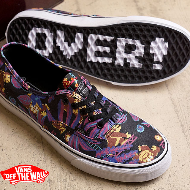vans x nintendo. vans x nintendo authentic vans mens womens sneakers authentic ( nintendo) donkeykong/black d