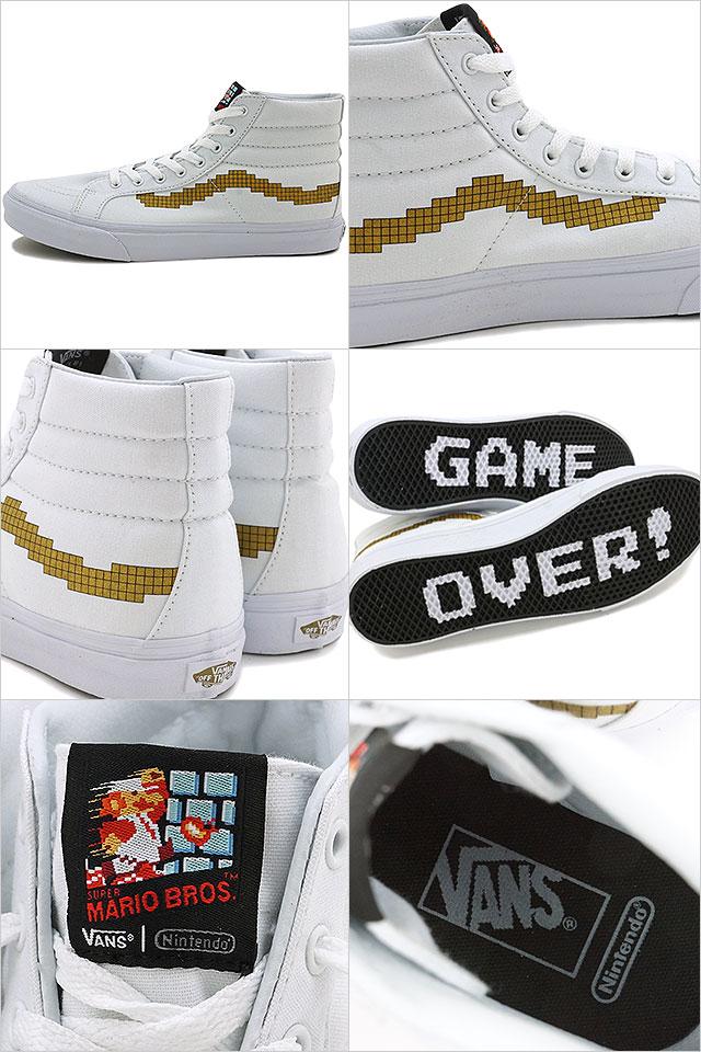 d35eb88f02 Vans x Nintendo Nintendo skating high slim VANS mens Womens sneakers Ske  high SK8-HI SLIM (Nintendo) Console gold (VN00018IJUZ FW16)