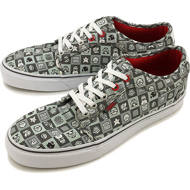 1903b54e39e6 Vans x Nintendo Nintendo chukka low mens Womens VANS sneakers CHUKKA LOW  (Nintendocheck) gray white (VN000ZUMJZX FW16)