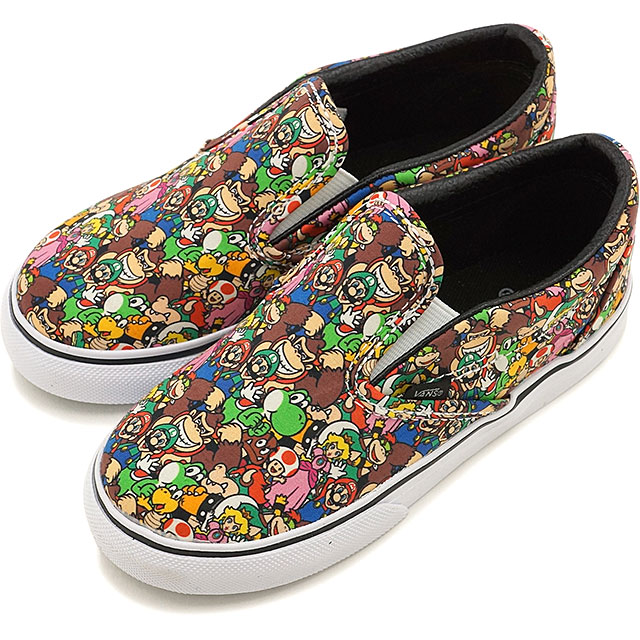 57f03632f7 Vans X Nintendo classical music slip-on VANS kids Jr. sneakers slip-ons CLASSIC  SLIP-ON (Nintendo) SuperMarioBros multi (VN0004J2K5A FW16)