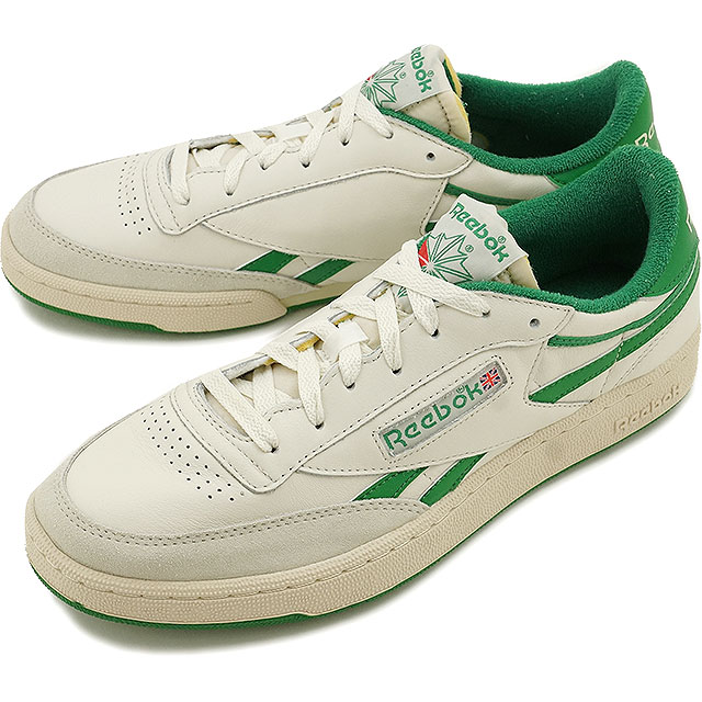 83dcc99be83b Reebok classic revenge plus vintage Reebok CLASSIC mens ladies sneakers REVENGE  PLUS VINTAGE CHALK PAPERWHITE GLEN GREEN EXCELLENT RED (V67895 FW16)