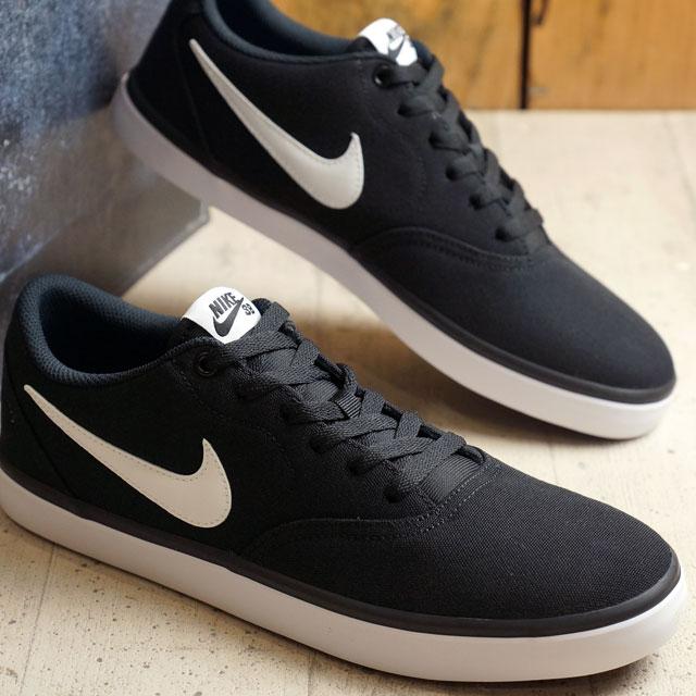 b6c7940fc3e Nike SB check solar canvas NIKE men CHECK SOLAR CANVAS black / white shoes  (843,896-001 FW16)