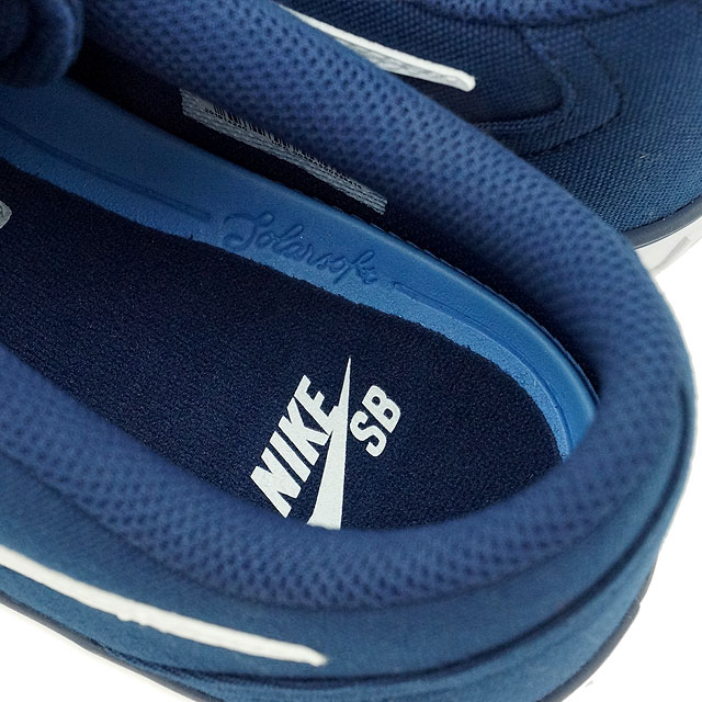 size 40 6e315 eca71 Nike SB check solar canvas NIKE men CHECK SOLAR CANVAS midnight navy   white shoes (843,896-400 FW16)