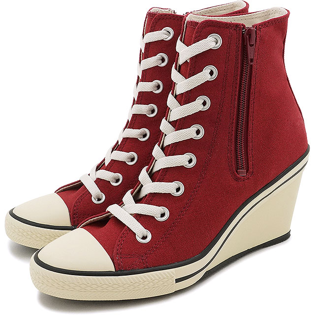 fcd05406ce36 Converse all-stars wedge zip Z higher frequency elimination CONVERSE ALL  STAR WEDGE Z HI Marron shoes (32099438 FW16)