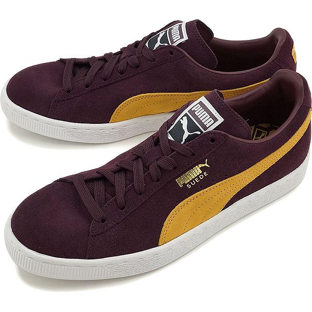 Puma Swede classic plus PUMA mens Womens sneakers SUEDE CLASSIC + wine  tasting / bright gold (356568-84 FW16)