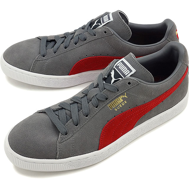 Puma suede cloth classic positive PUMA men gap Dis sneakers SUEDE CLASSIC + steel gray Barbados cherry (356,568 85 FW16)