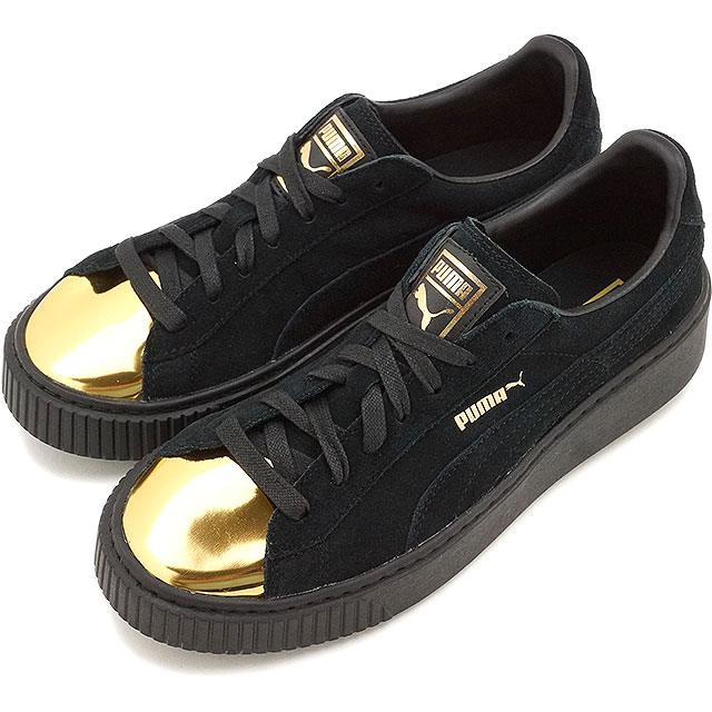 watch 44d64 d2e5a Puma suede cloth creeper FIF PUMA Lady s sneakers SUEDE CREEPER FIF gold   Puma  black ...