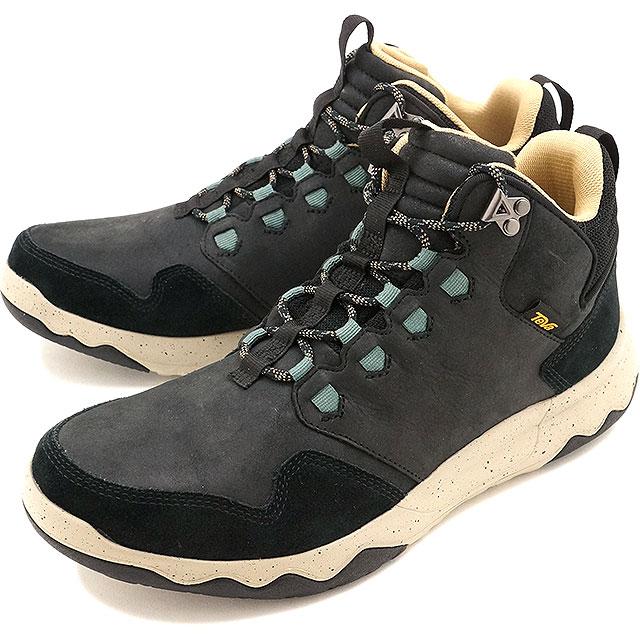 Teva men arrow Wood Lux mid waterproof Teva waterproofing specifications sneakers shoes MENS Arrowood Lux Mid WP BLACK (1013643 BLK FW16)