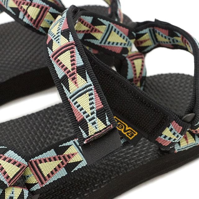 Teva 妇女原来普遍 Teva 凉鞋网状原通用马赛克黑色/多 (1003987 MBMT FW16)