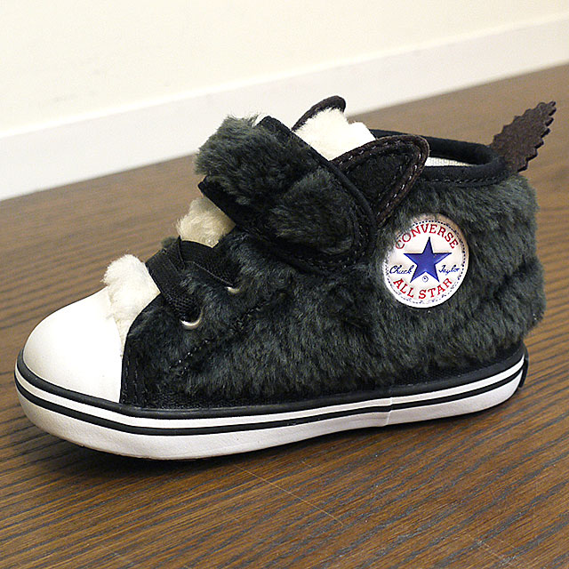 e22179fe8055 mischief  Converse baby all-stars N animal fur Velcro -1 CONVERSE ...