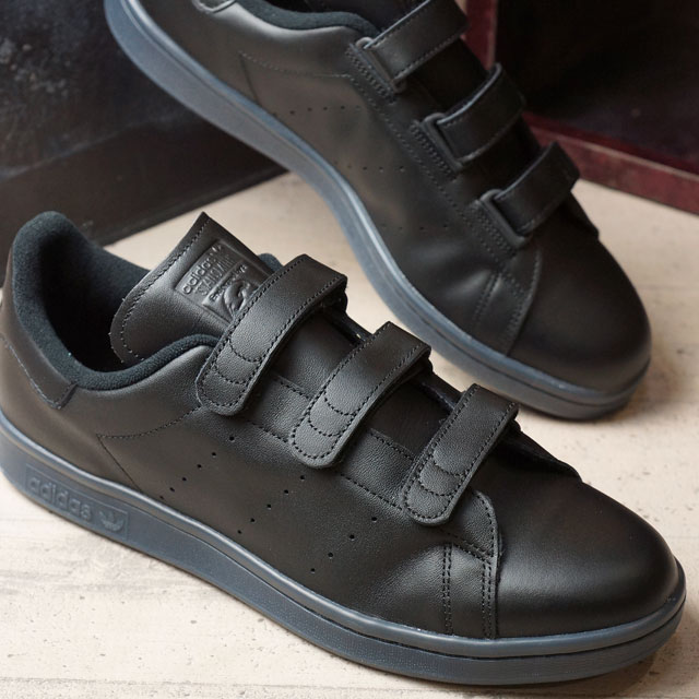 Adidas originals Stan Smith comfort Velcro adidas Originals STAN SMITH CF  men s women s core black (S80044 FW16) ab1225278a