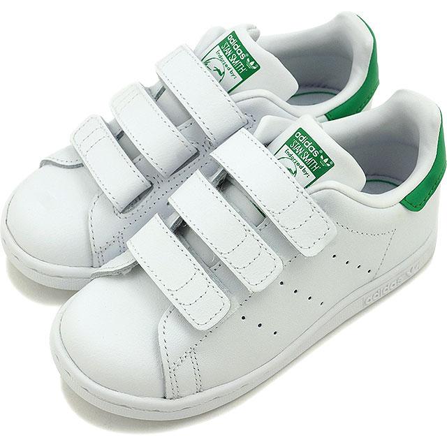 アディダスオリジナルススタンスミスコンフォートインファント adidas Originals kids Baby Bell black STAN SMITH CF I running white running white green shoes (M20609 FW16)