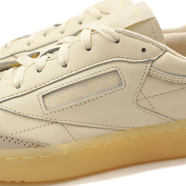42dff68f62f Reebok classical music club C 85 butter software Reebok CLASSIC men gap Dis  sneakers CLUB C 85 BS OLYMPIC CREME WASHED YELLOW (AR1423 FW16)
