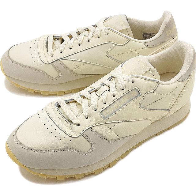 36fc386e2046 Reebok classical music classical music leather butter software Reebok  CLASSIC men gap Dis sneakers CL LEATHER BS OLYMPIC CREME WASHED YELLOW  (AR2896 FW16)