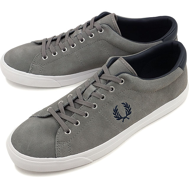 Fred Perry men's women's sneakers under spin suede FRED PERRY UNDERSPIN  SUEDE FALCON GREY/NAVY (B9091-C53 FW16)