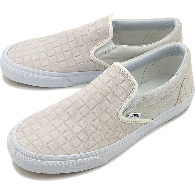 f686233337 Vans classical music slip-on VANS men gap Dis sneakers slip-ons CLASSIC  CLASSIC SLIP-ON (SUEDE CHECKERS) BLANC DE BLANC (VN0004MPJRL FW16)
