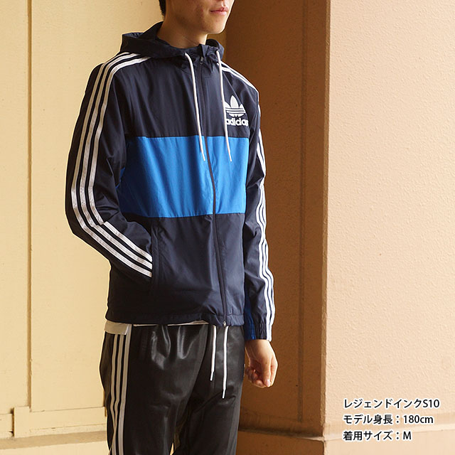 Men/'s adidas Originals Clfn Windbreaker Jacket In Legend Ink
