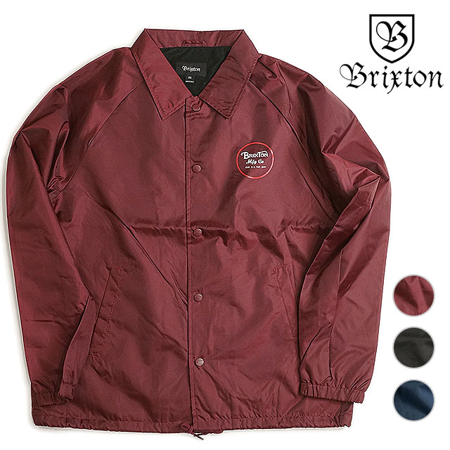 Brixton Wheeler windbreaker jacket BRIXTON mens coach jacket nylon jacket  WHEELER JACKET (FW16) caa11b5588c