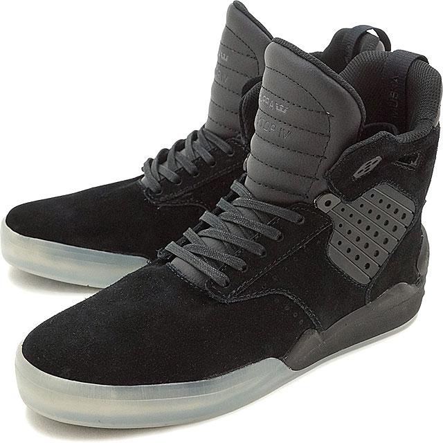 94fdd6757108 Surpra sky top 4 SUPRA men gap Dis skating shoes sneakers shoes SKYTOP 4  BLACK-TRANSLUCENT (08155-049 FW16)