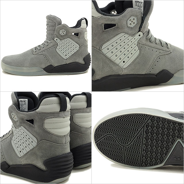 Supra Skytop SUPRA 4 mens Womens Skate Shoes Sneakers SKYTOP 4 GREY CHARCOAL-TRANSLUCENT  (08155-035 FW16) c27be6afece3