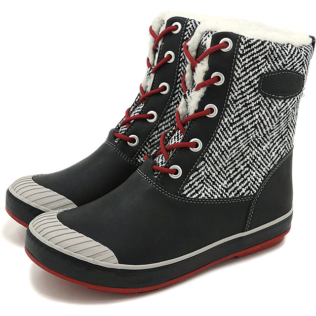 b882da24b57 Kean Elsa L boots waterproof KEEN WOMEN Elsa L Boot WP Black/Red Dahlia  shoes (1015636 FW16)