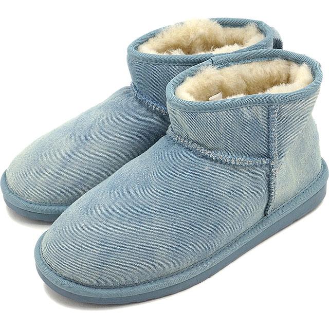 【40%OFF】【在庫限り】エミュー スティンガー デニム マイクロ EMU レディース ムートンブーツ Stinger Denim Micro ライトデニム 靴 (W11376 FW16)【ts】【e】【コンビニ受取対応商品】
