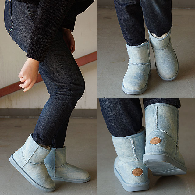 【60%OFF/SALE】エミュー スティンガー デニム ミニ EMU レディース ムートンブーツ Stinger Denim Mini ライトデニム 靴 [W11377 FW16][ts][e]