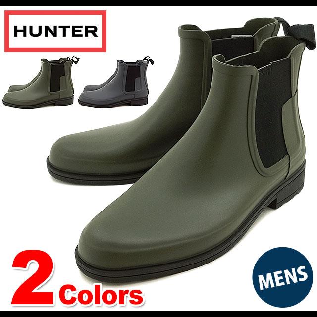Hunter mens original refined Chelsea dark soul HUNTER men's rubber boots  Couleur M ORIGINAL REFINED CHELSEA DARK SOLE (FW16)