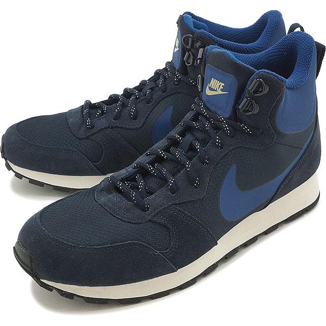 db2e41b3982 NIKE Nike sneakers MD RUNNER 2 MID PREMIUM Nike mid runner 2 mid premium  dark of Xidan   coastal blue   sail (844864-440 HO16)