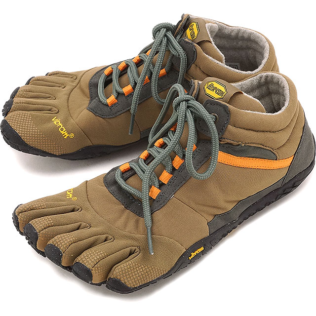Vibram FiveFingers ビブラムファイブフィンガーズ メンズ MEN TREK ASCENT INSULATED Khaki/Orange ビブラム ファイブフィンガーズ 5本指シューズ ベアフット 靴 [15M5301]